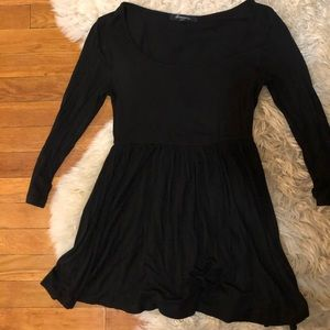 Baby doll black soft jersey top blouse S shirt